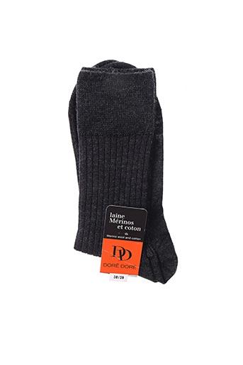 Chaussettes gris DORE DORE pour unisexe