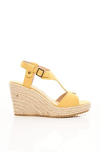 Sandales/Nu pieds jaune CHATTAWAK pour femme