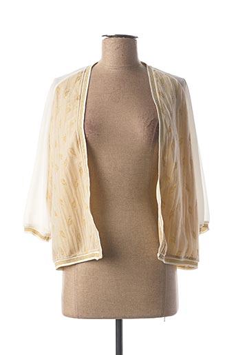 Gilet manches longues beige FRACOMINA pour femme