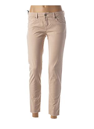 Pantalon 7/8 beige FIVE pour femme