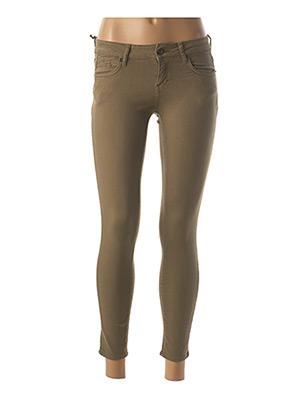Pantalon 7/8 vert FIVE pour femme