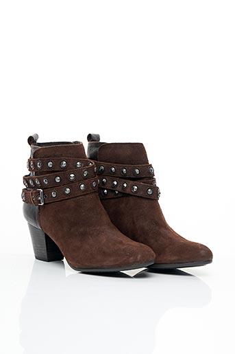 Bottines/Boots marron CALVIN KLEIN pour femme