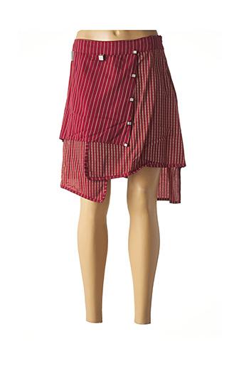 Jupe mi-longue rouge ENJOY pour femme