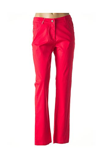 Pantalon casual rouge EVER EASY BY JAC JAC pour femme