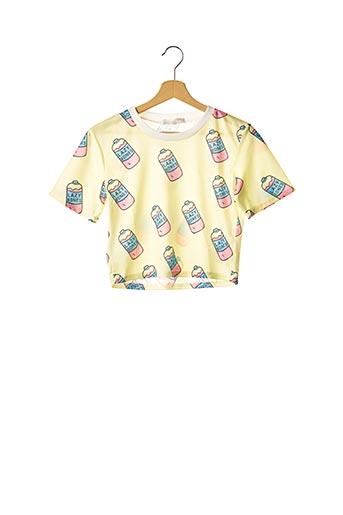 T-shirt manches courtes jaune ACDC RAG pour femme