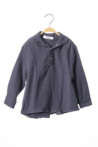 T-shirt manches longues bleu BLOUSETTE pour garçon