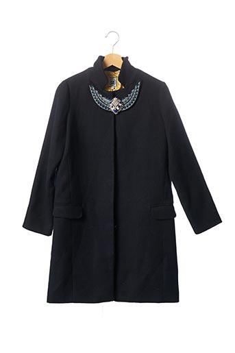 Manteau long noir SANS MARQUE pour femme