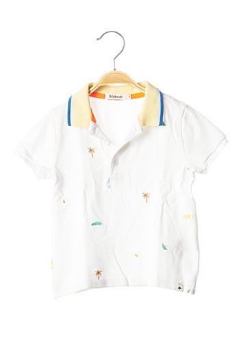 Polo manches courtes blanc BILLYBANDIT pour garçon