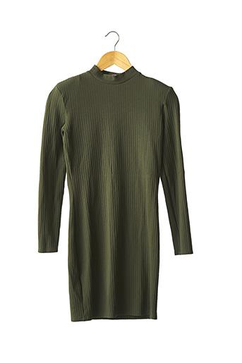 Robe pull vert MANGO pour femme