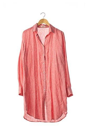 Robe mi-longue rouge CAPRI pour femme