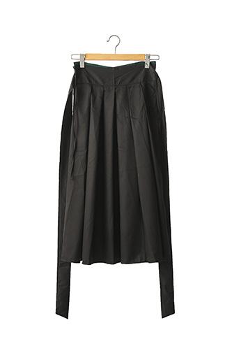 Jupe mi-longue noir NEW STAR pour femme