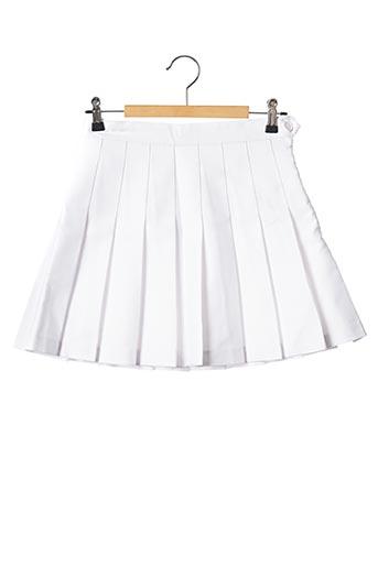 Mini-jupe blanc AMERICAN APPAREL pour femme