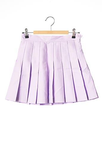 Mini-jupe violet AMERICAN APPAREL pour femme
