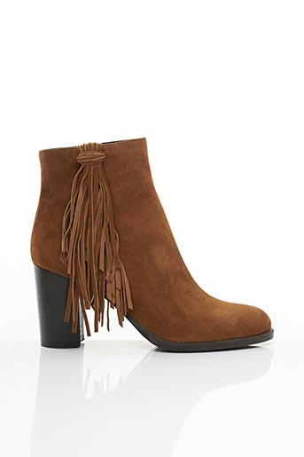 Bottines/Boots marron BRUNO PREMI pour femme