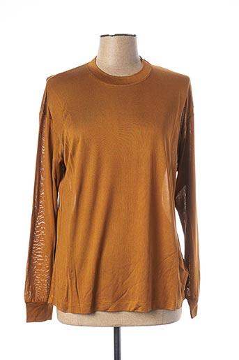 T-shirt manches courtes marron EQUIPMENT pour femme