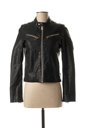 Veste simili cuir noir G STAR pour femme