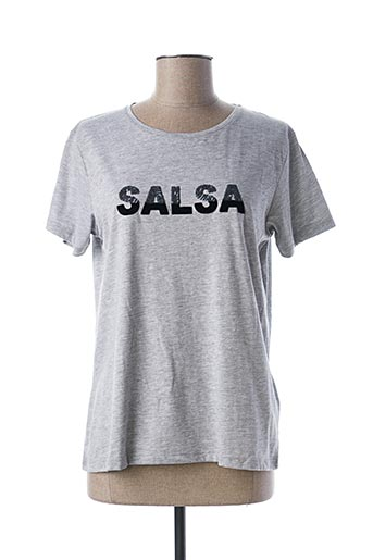 T-shirt manches courtes gris SALSA pour femme