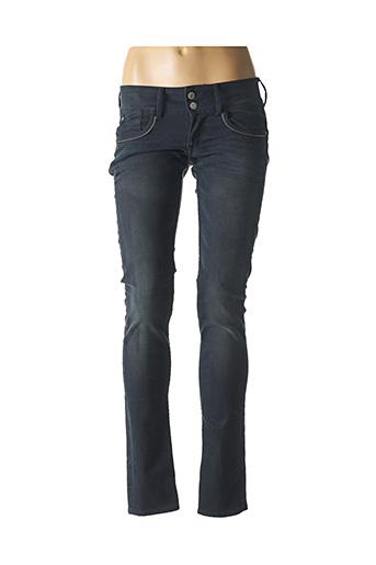 Jeans coupe slim bleu LE TEMPS DES CERISES pour femme