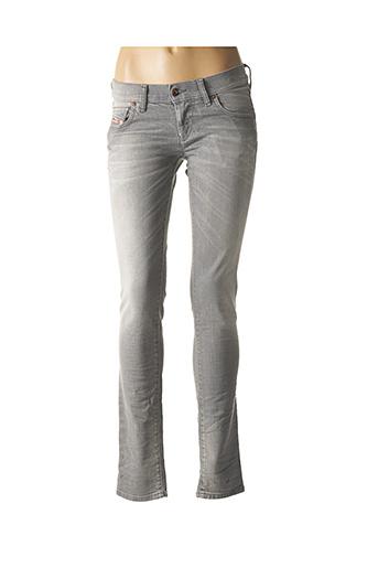 Jeans skinny gris DIESEL pour homme