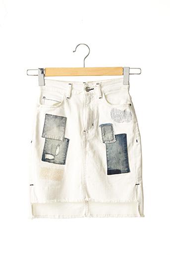 Jupe courte blanc GUESS pour femme