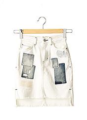 Jupe courte blanc GUESS pour femme seconde vue