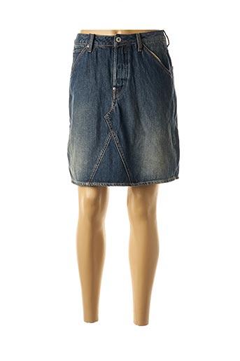 Jupe courte bleu G STAR pour femme
