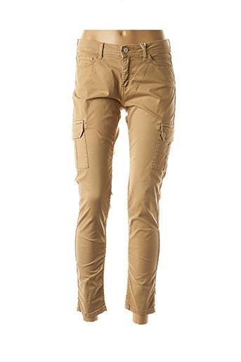Pantalon 7/8 beige AVIDA DOLLARS pour femme