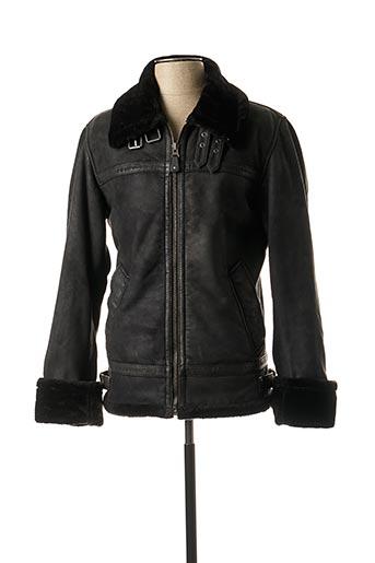 Veste en cuir noir OAKWOOD pour homme