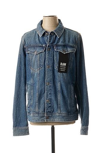 Veste en jean bleu G STAR pour homme
