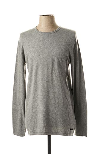 Pull col rond gris LEE pour homme