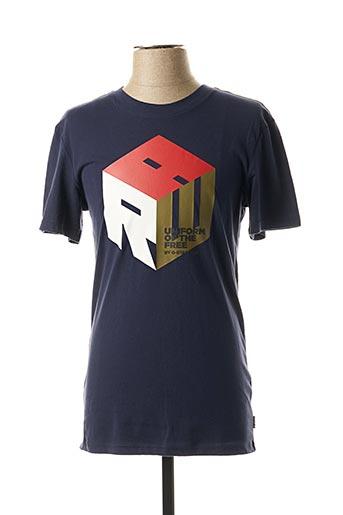 T-shirt manches courtes bleu G STAR pour garçon