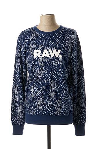 Sweat-shirt bleu G STAR pour homme