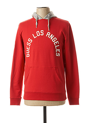 Sweat-shirt rouge GUESS pour homme