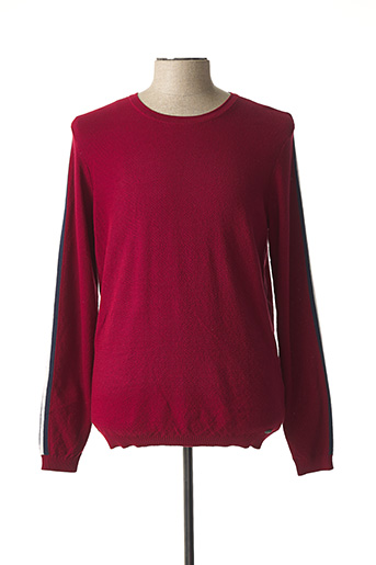 Pull col rond rouge SALSA pour homme