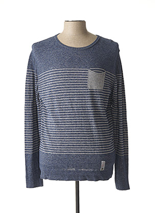 Pull col rond bleu REPLAY pour homme