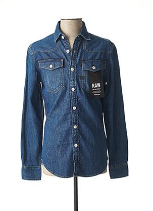 Chemise manches longues bleu G STAR pour homme