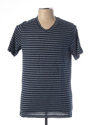 T-shirt manches courtes bleu JACK & JONES pour homme