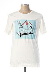 T-shirt manches courtes blanc JACK & JONES pour homme seconde vue
