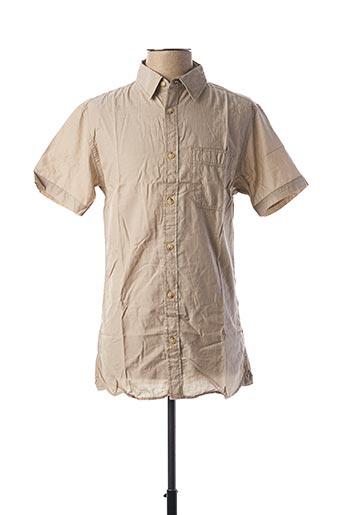 Chemise manches courtes marron JACK & JONES pour homme