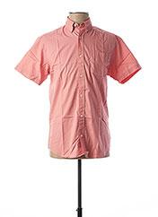Chemise manches courtes rose JACK & JONES pour homme seconde vue