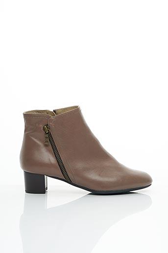 Bottines/Boots beige BRENDA ZARO pour femme