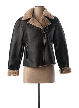 Veste simili cuir noir TIFFOSI pour femme