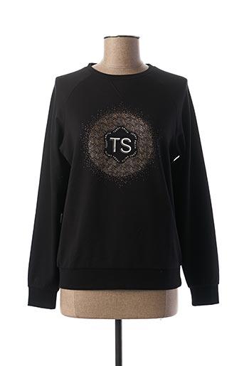 Sweat-shirt noir TEDDY SMITH pour femme
