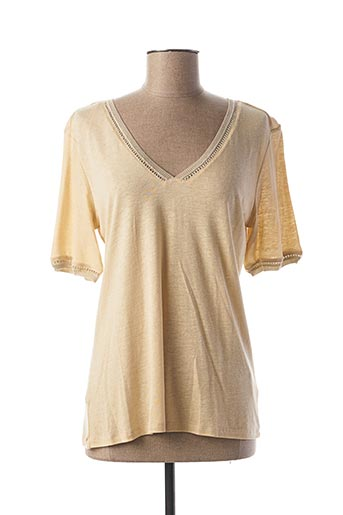 T-shirt manches courtes beige LOLA ESPELETA pour femme