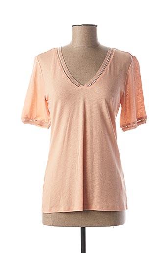 T-shirt manches courtes rose LOLA ESPELETA pour femme