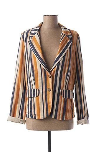 Veste chic / Blazer orange PAKO LITTO pour femme