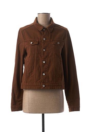 Veste en jean marron I.CODE (By IKKS) pour femme