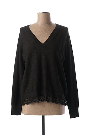 Pull col V gris TIFFOSI pour femme