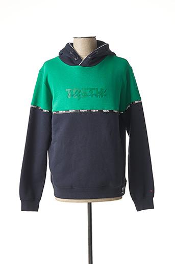 Sweat-shirt vert TEDDY SMITH pour garçon