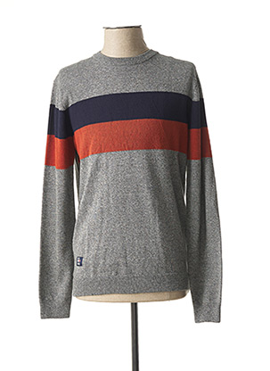 Pull col rond gris OXBOW pour homme